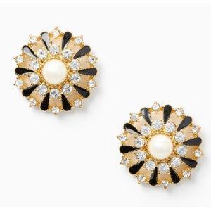 🆕Kate Spade New York Tuxedo Pearl Stud Earrings